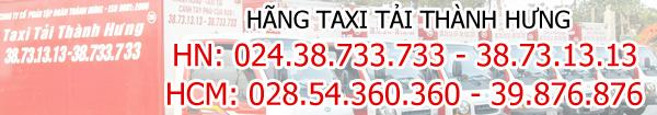 Số điện thoại liên hệ Taxi tải Thành Hưng