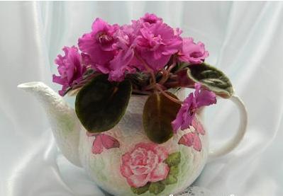 Hô biến ấm trà cũ của bố thành bình hoa điệu đà