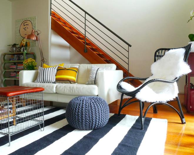 thảm sọc đen trắng