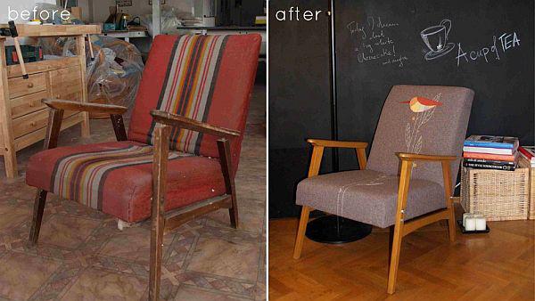 làm mới ghế cũ