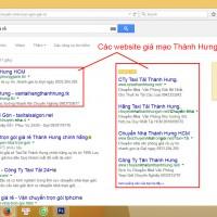 Một số website giả mạo thương hiệu chuyển nhà Thành Hưng